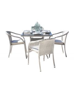 Athens 5 PC Armchair Dining Set with Cushions