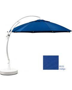 13' Curve Umbrella Cantilever Patio Indigo Umbrella
