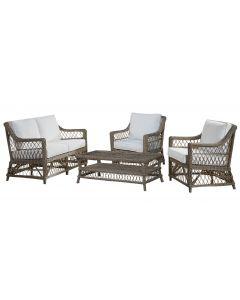 Panama Jack Seaside 4 PC Living Set with Cushions