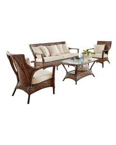 Panama Jack Espresso 4 Pc Seating Set with Cushions