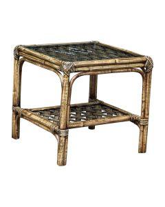 Panama Jack Old Havana End Table with Glass