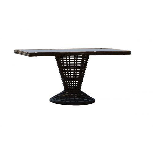 Sparta Rectangular Dining Table w/Glass