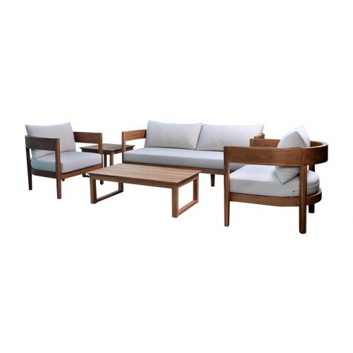 Atlas Teak 5 Pc Seating with Cushions