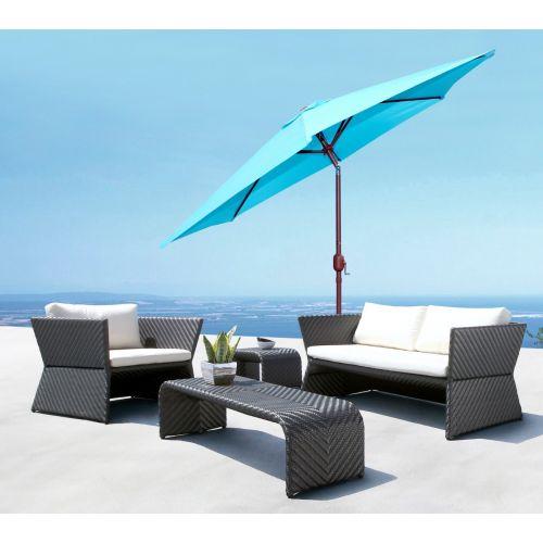 Panama Jack Teal 9 Ft Aluminum Patio Umbrella W/Crank