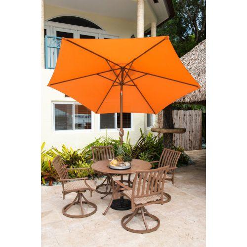 Panama Jack Orange 9 Ft Aluminum Patio Umbrella W/Crank