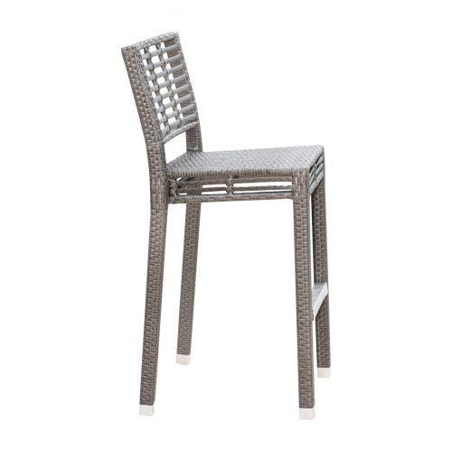 Panama Jack Graphite Stackable Barstool