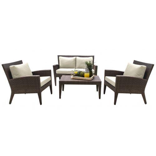 Panama Jack Oasis 4 PC Seating Set with Cushions