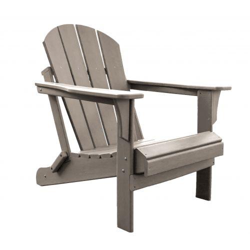 Panama Jack Folding Poly Resin Taupe Adirondack Chair