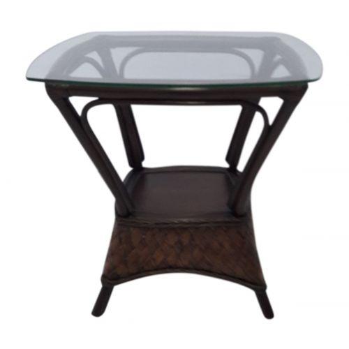 Panama Jack Espresso End Table w/Glass