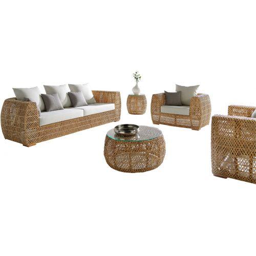 Panama Jack Sumatra 5 Pc Seating Set with Cushions