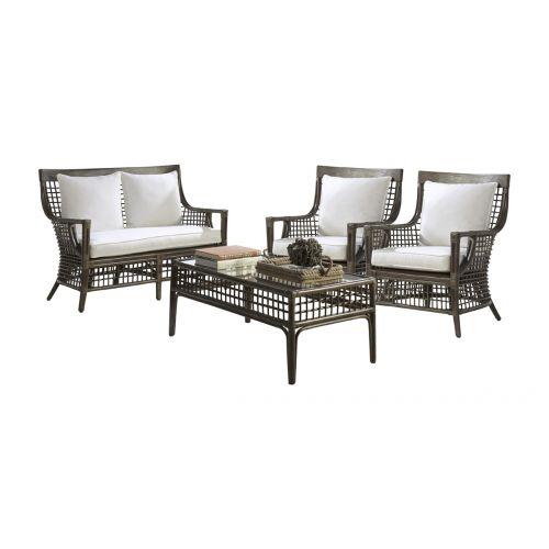 Panama Jack Millbrook 4 PC Living Set with Cushions