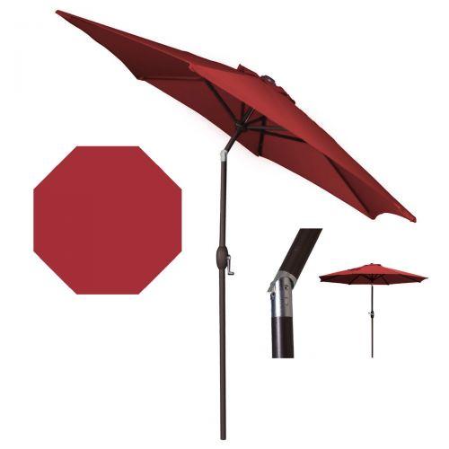 Panama Jack Red 9 Ft Aluminum Patio Umbrella W/Crank